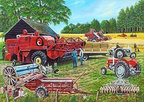 Ferguson Combines by Roy Didwell 1000 piece jigsaw puzzle 690mm x 480mm  (jg)
