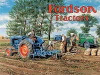 Fordson Tractors ploughing steel sign 200mm x 150mm