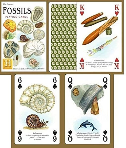 Fossils set of 52 playing cards (+ jokers)    (hpc)