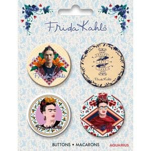 Frida Kahlo Set of 4 Button Badges (nm)