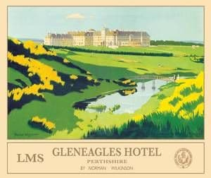 Gleneagles (old rail ad.) large metal sign  (og 4030)