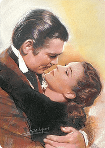 Gone With The Wind  Movie Scene  aluminium sign   305mm x 205mm (sf)
