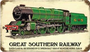Great Southern Railway rusted metal sign   350mm x 200mm