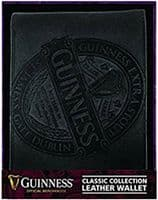 Guinness Classic Collection Black Leather Wallet    (sg)