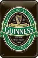 Guinness Green Label embossed metal sign  300mm x 200mm    (sg)