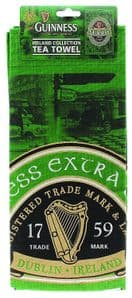 Guinness Ireland Collection Green Label Cotton Tea Towel  700mm x 450mm  (sg)