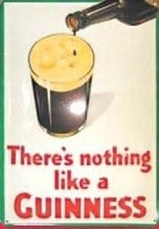 Guinness Nothing like.. (Glass/Face) Steel Sign