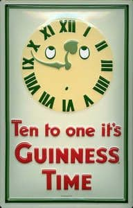 Guinness Ten to One embossed steel sign