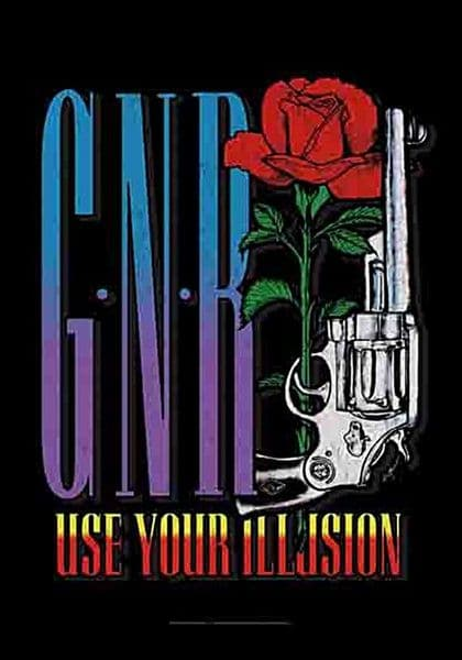 Guns N' Roses Use Your Illusion  large fabric poster / flag 1100mm x 750mm (hr)