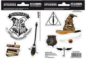 Harry Potter Magical Objects (2 sheets) set of vinyl stickers 160mm x 110mm  (aby)