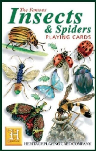 Insects & Spiders set of 52 playing cards (+ jokers)    (hpc)