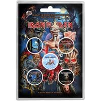 Iron Maiden 5 Pin Badges in Pack Later Albums (ro)