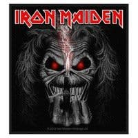 Iron Maiden Eddie Candle Finger sew-on cloth patch 100mm x 90mm (rz)