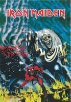 Iron Maiden Number Of The Beast large fabric poster/ flag 1100mm x 700mm  (hr)