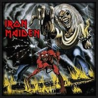 Iron Maiden Number Of The Beast sew-on cloth patch 100mm x 100mm (rz)