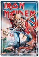 Iron Maiden The Trooper embossed Steel Sign 300mm x 200mm     (lsh)