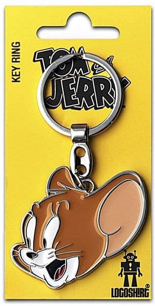 Jerry (Tom and Jerry) shaped metal keyring   (lsh)