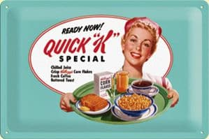 Kelloggs Quick K Special embossed steel sign   2030na