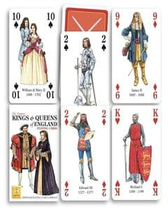 Kings & Queens of England set of 52 playing cards (+ jokers)    (hpc)