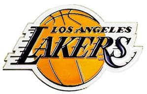 LA Lakers NBA Basketball Team Crest metal / enamel pin badge    (spg)