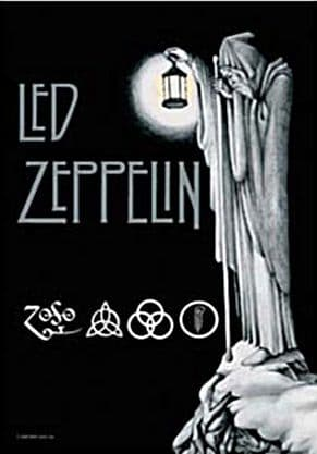 Led Zeppelin Stairway large fabric poster/ flag 1100mm x 700mm  (hr)