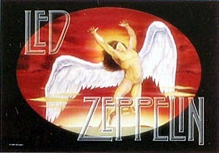 Led Zeppelin Swansong large textile poster  (hr)