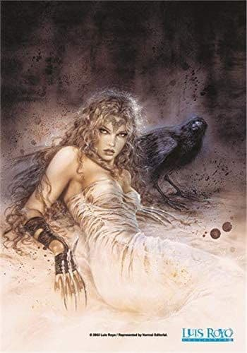 Luis Royo Girl and Crow Large Fabric Poster/Flag 1050mm x 750mm (hr)
