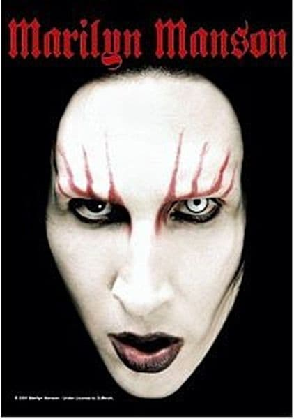 Marilyn Manson Large Textile Poster 1100mm x 750mm (hr)