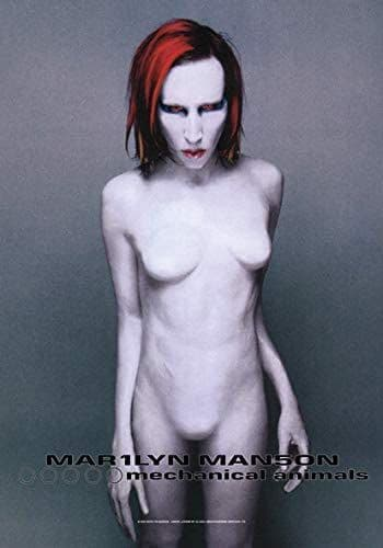 Marilyn Manson Mechanical Animals large fabric poster / flag 1100mm x 750mm (hr)