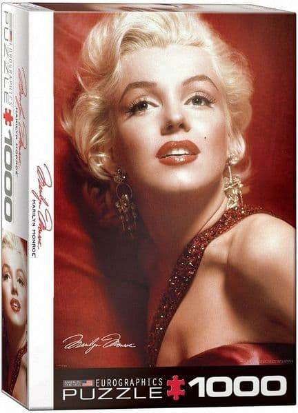 Marilyn Monroe On Red Satin 1000 piece jigsaw puzzle   680mm x 490mm    (pz)