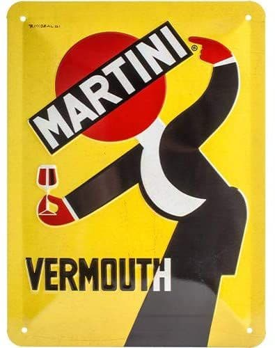 Martini Vermouth Waiter small metal sign 200mm x 150mm (na)