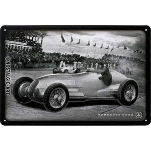 Mercedes-Benz Silver Arrow Racing Photo Medium Metal Sign 200mm x 300mm (na)