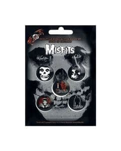 Misfits  5 Round Pin Badges in Pack  (rz)