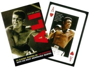 Mohammed Ali set of playing cards + jokers    (gib)