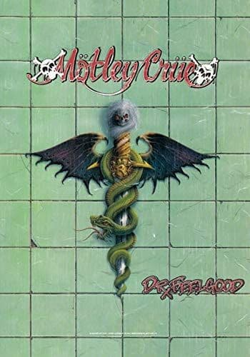 Motley Crue Dr Feelgood large fabric poster / flag 1100mm x 750mm (hr)