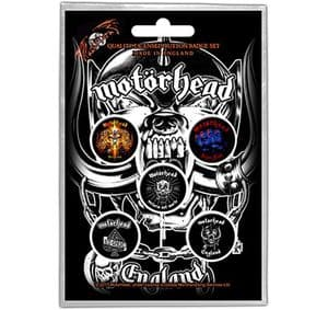 Motorhead 5 round Pin Badges in Pack (ro)