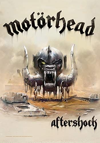 Motorhead Aftershock large fabric poster / flag 1100mm x 750mm (hr)