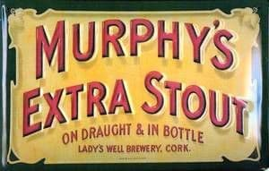 Murphys Extra Stout embossed steel sign