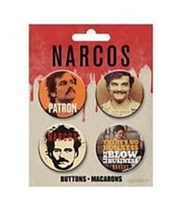 Narcos  Set of 4 Pin Badges (nm)