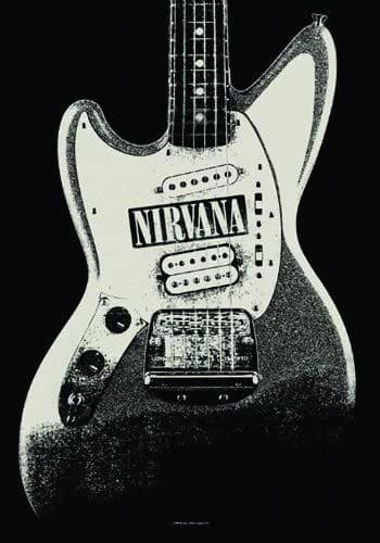 Nirvana Jag Stand Large Fabric Poster/Flag 1050mm x 750mm (hr)