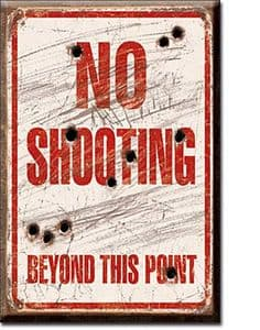 No Shooting Beyond This Point funny fridge magnet    (de)