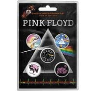 Pink Floyd 5 round Pin Badges in Pack (ro)