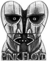 Pink Floyd Alchemy Division Bell Pewter Pin Badge Silver (ro)