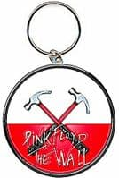 Pink Floyd The Wall Hammers round metal keyring (ro)