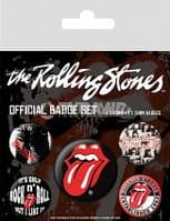 Rolling Stones pack of 5 pin badges (py)