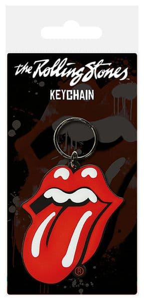 Rolling Stones Red Tongue PVC flexible keyring      (py)