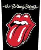 Rolling Stones Tongue jumbo sized sew-on cloth backpatch  360mm x 290mm (rz)