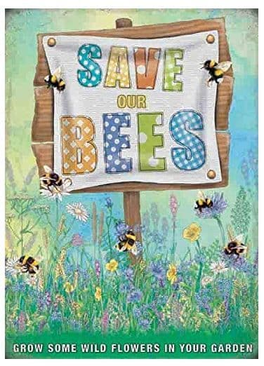 Save Our Bees  Small Metal Sign 200mm x 150mm (og)