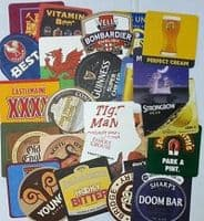 Set of 25 different brand new Beer Mats from the pubs of England