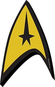 Star Trek Logo Badge chunky thick fridge magnet    (nm)